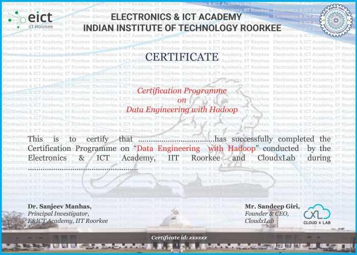 Course Certificate Sample